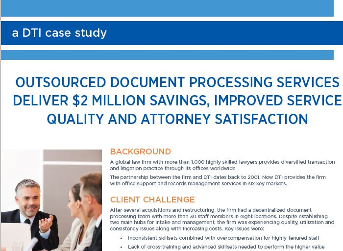 OUTSOURCED DOCUMENT PROCESSING SERVICES...