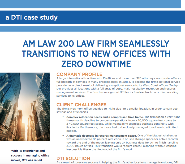 A DTI Case Study - Seamless Transition t...