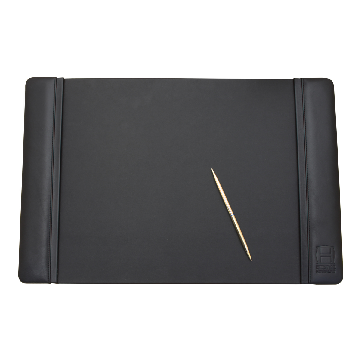 Black Leather Desk Pad, 22x14