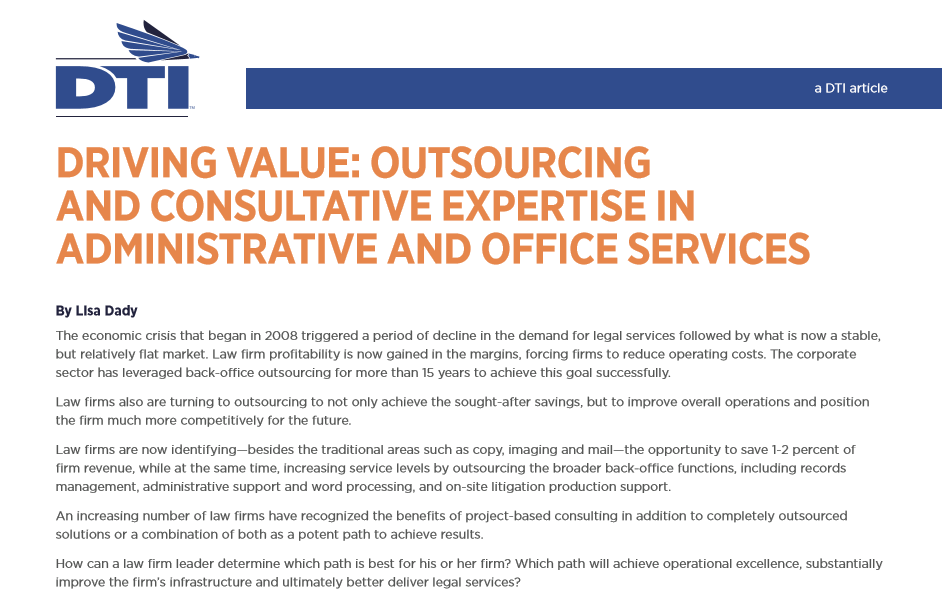 Article: Outsourcing and Consultative Ex...