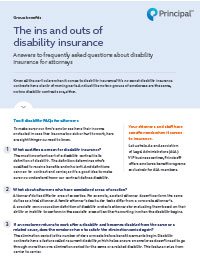 The ins and outs of disability insurance
