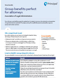 Group benefits perfect for attorneys