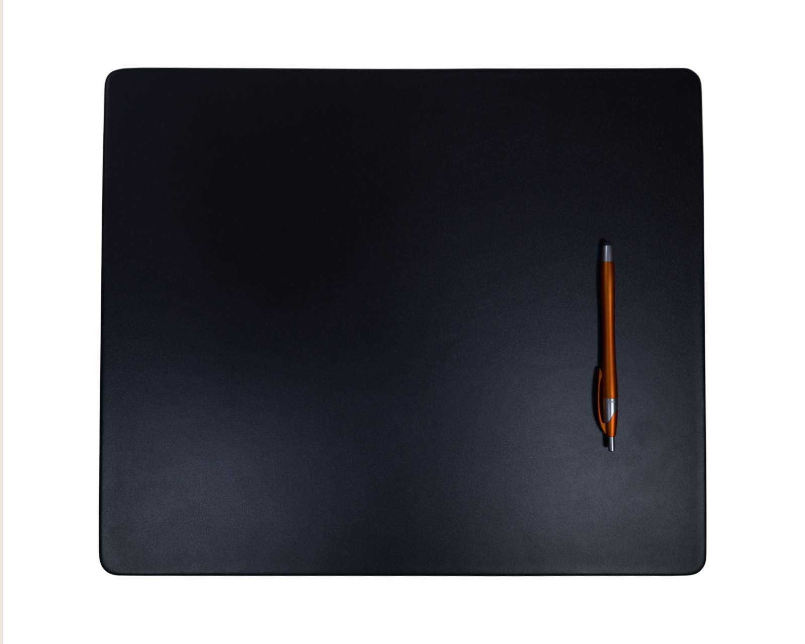 Black Leather Conference Table Pad, 17 x...