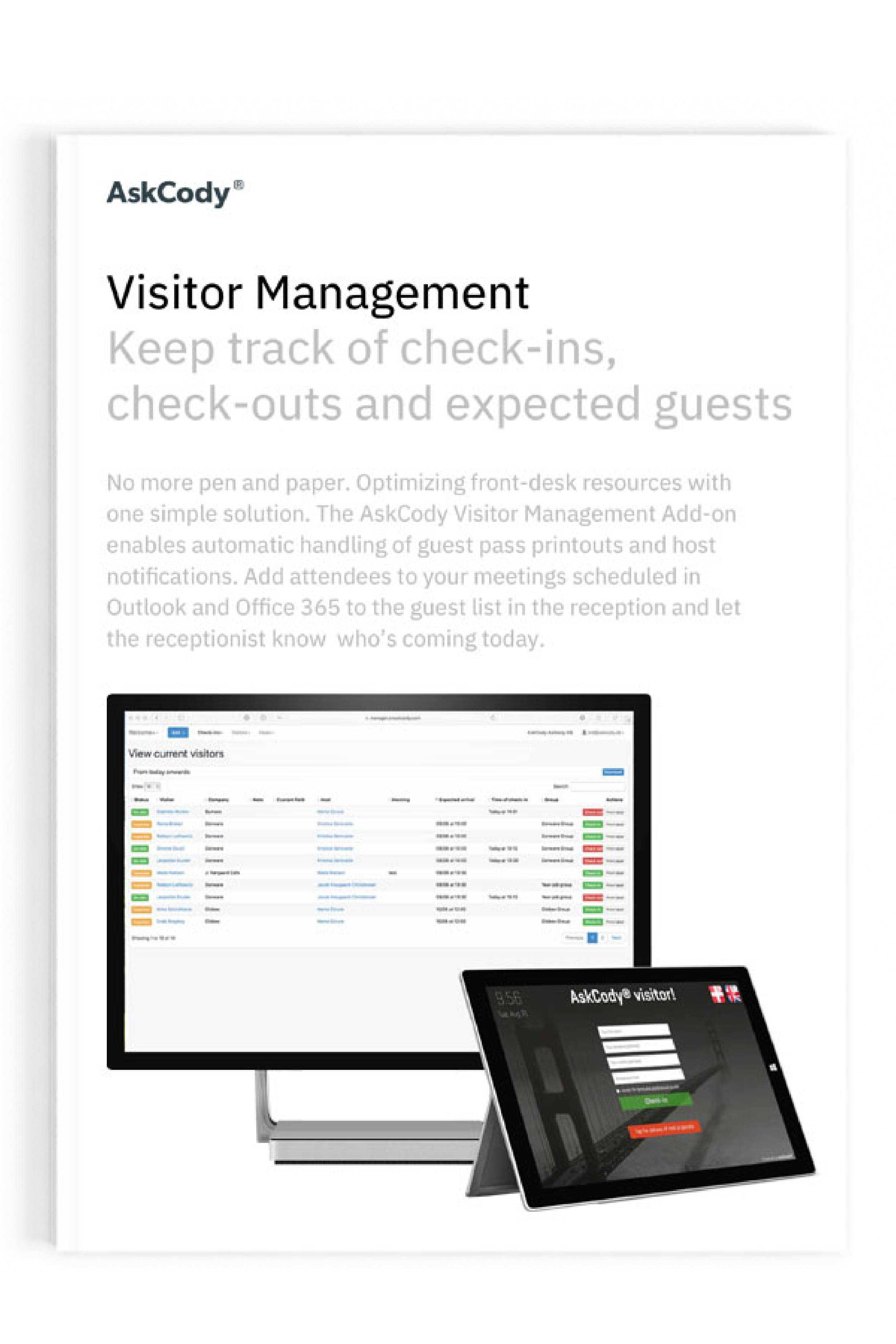 Visitor Management Product sheet