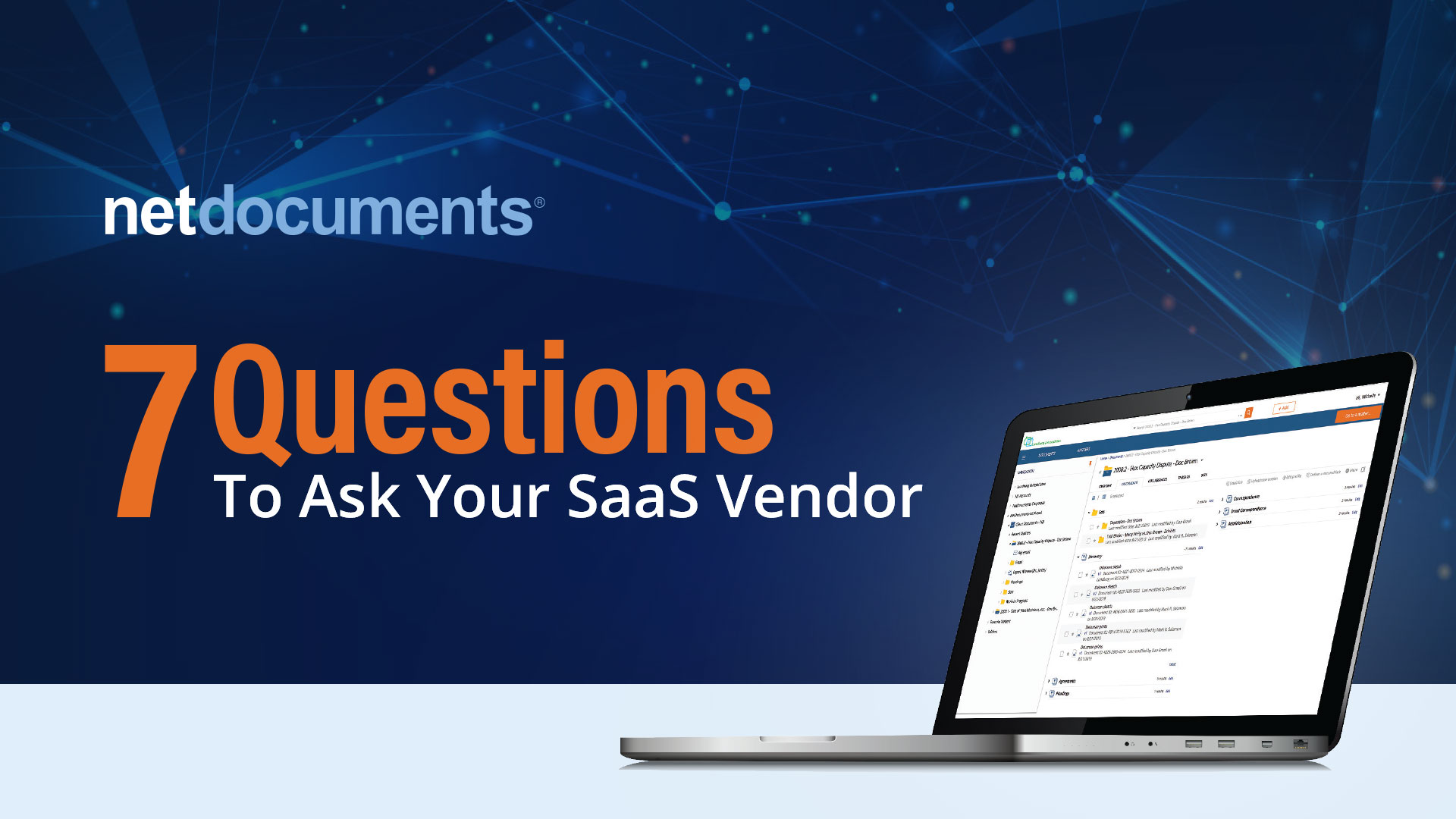 7 Questions to Ask Your SaaS Vendor